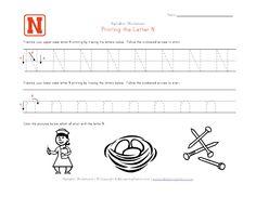 Free Preschool Worksheets Letter N Letter Tracing Worksheets, Handwriting Worksheets, Tracing Letters, Uppercase And Lowercase Letters, Free Preschool, Preschool Learning, Kindergarten Worksheets, Printing Practice, Learning Stations