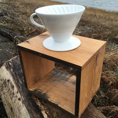 Oak Reclaimed Pour Over Coffee Stand