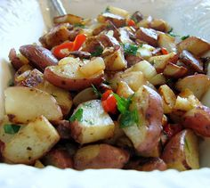 BREAKFAST POTATOES-these are my must have's once a week. Just boil up a few extra potatoes when making them for supper,toss in fridge until you are ready to make them. so easy so good