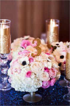 Blue And Pink Las Vegas Wedding
