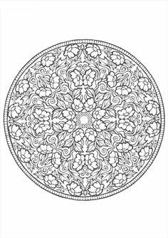 Раскраски узоры круг распечатать