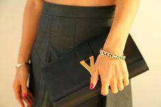 black & leopard print. Our bracelet styled by @Andrea / FICTILIS S. Layne