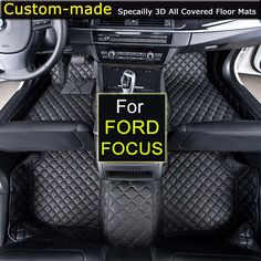 For Ford Focus Sedan Focus Hatchback Car Floor Mats Customized Foot Rugs Custom Carpets Car Styling #Affiliate