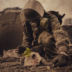Reunion. Damn old picture taken in year 2010 on Türisalu Soviet missile base for a Metro2033 related photo contest. Photo by Dmitri Korobtsov.