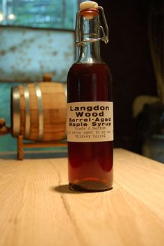Whiskey Barrel aged Maple Syrup. . . to add a little something extra to your pancakes!