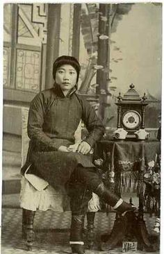 Chinese Woman Vintage print, China Tirage citrate 6,5x10,5
