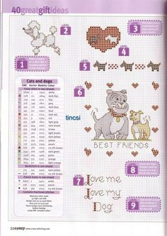Dog & Cat Motifs: 1-9