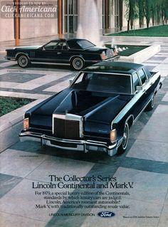 Continental Mark V ad, brochure & Tom Selleck (1979)  Read more at http://clickamericana.com/eras/1970s/continental-mark-v-ad-sales-brochure-1979 | Click Americana