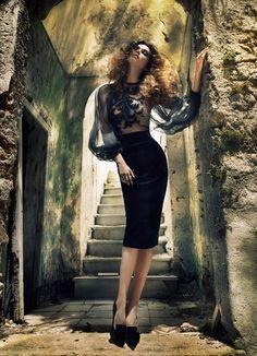 femme fatale: sophie vlaming by costas avgoulis for elle germany december 2012