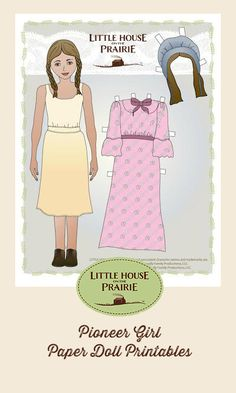 Color your own pioneer boy and girl paper dolls with @eMom's exclusive free printables.