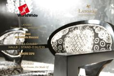 "LATORRE will be presenting It´s latest proposals at iSaloni WORLDWIDE MOSCOW 2012 - CROCUS EXPO, from  10th to 13th October 2012. We will be pleased to receive you on our Stand.  we hope you enjoy of ""The Material That Dreams Are Made Of"" Situación: Hall. 8 Stand D36/E39  CROCUS EXPO.#LATORRE #Ascensionlatorre #Luxuryfurniture #luxe #lujo #premium #homedecor #interiordesign #fashionfurniture #lifestyle #advertisements #luxury #brands #photography #makingof #pinterest #crocusexpo #isaloni"