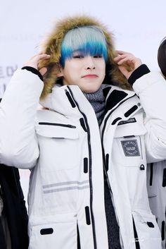 MONSTA X Wonho ❤❤ He looks so cute and fluffy!! I just want to hug him!
