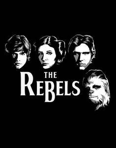 "Star Wars Beatles Album Parody ""The Rebels"" Logo Fan Art Prints and Posters"