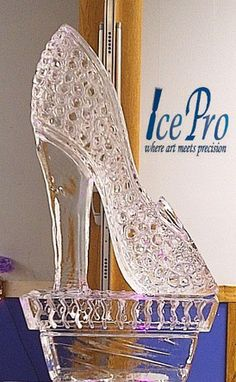 Glass Slipper Ice Sculpture