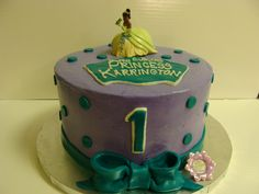 Princess and the Frog Themed 1st Birthday Cake.