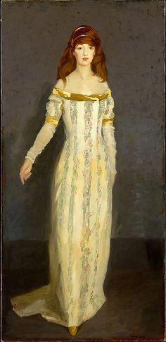 The Masquerade Dress Robert Henri (American, Cincinnati, Ohio 1865–1929 New York City) MET Date: 1911 Medium: Oil on canvas Dimensions: 76 1/2 x 36 1/4 in. (194.3 x 92.1 cm) Classification: Paintings