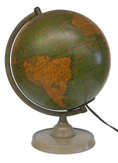 A Cram Quality Globe. Made by the George F. Cram Co., Inc. Indianapolis Indiana  No 9E, Globe Maker: George F. Cram Company, Inc. (Published: George F. Cram Company, Inc. c1949. Indianapolis)