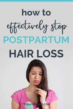 Wondering how to stop postpartum hair loss? : How To Stop Postpartum Hair Loss - Effective Remedies For New Moms. Check out these tips for how to style your hair after pregnancy, how to prevent more hair loss, and if prenatal vitamins really help! Baby Hair Loss, Hair Loss Cure, Oil For Hair Loss, Stop Hair Loss, Hair Loss Remedies, Prevent Hair Loss, Hair Loss After Pregnancy, Postpartum Hair Loss, Pregnancy Tips