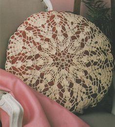 Cushion Cover PDF Crochet Pattern . Round Mandala . Circular Doily . Round Doiley . Home Crochet . Embellishment . Instant Digital Download by PDFKnittingCrochet on Etsy