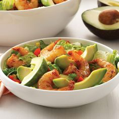 Shrimp Salad with Cilantro Dressing Recipe -This pretty salad has such authentic flavor, you'll think you're sitting at a beachside cantina in Acapulco. —Heidi Hall, North St. Paul, Minnesota