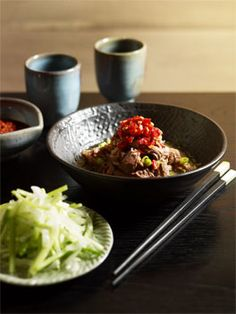 Australian Gourmet Traveller recipe for shredded lamb shoulder with salted chilli by Neil Perry and Andy Evans from Sydney restaurant Spice Temple. Lamb Recipes, Asian Recipes, Ethnic Recipes, Perry Recipe, Lamb Shoulder, Sydney Restaurants, Vegetarian Cabbage, Gluten Free Chicken, Chinese Style