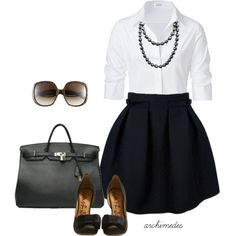 Classy is the name of the game with this black and white combo. I'll just take the Birkin:)