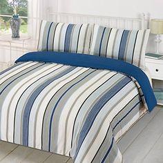 Linens Limited Tenby Stripe Duvet Cover Set, Navy Blue, Double, http://www.amazon.co.uk/dp/B015CKT93G/ref=cm_sw_r_pi_awdl_kdB7wb9NPCQQ6