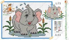 Cross Patterns, Kids Patterns, Counted Cross Stitch Patterns, Cross Stitch Charts, Elephant Cross Stitch, Cross Stitch Baby, Cross Stitch Animals, Beaded Cross Stitch, Cross Stitch Embroidery