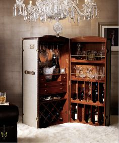 Steamer Trunk Bar - I will have this one day! I plan to make it/have it made out of an trunk from my husband's family