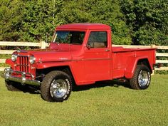 Vintage Trucks Classic 1955 Willys Truck - Photo submitted by Taylor Minton. Jeep Pickup Truck, Classic Pickup Trucks, Dodge Pickup, Willis Pickup, F100, Willys Wagon, Jeep Willys, Truck Storage, Lifted Trucks