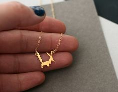Little Prince inspired fox necklace fox by WildThingStudio on Etsy