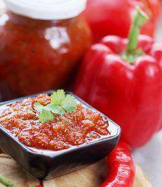 Tomatenchutney – WECKENonline.eu Cooking Jam, Salsa, Stuffed Peppers, Vegetables, Ethnic Recipes, Dressings, Feta, Zucchini, Stuffed Pepper