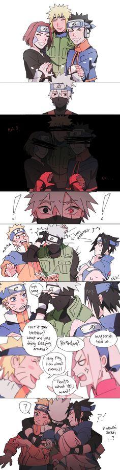 Naruto Uzumaki Shippuden, Naruto Kakashi, Anime Naruto, Naruto Shippuden Characters, Naruto Teams, Naruto Fan Art, Naruto Comic, Naruto Cute, Otaku Anime