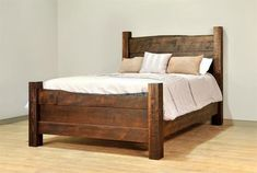 Ruff Sawn Live Edge Bed from DutchCrafters Amish Furniture Rustic Bedroom Furniture, Live Edge Furniture, Rustic Bedding, Amish Furniture, Living Furniture, Home Furniture, Bedroom Decor, Furniture Direct, Furniture Layout