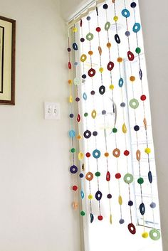 [Free Crochet Pattern] This Colorful Curtain Will Make Your Home Look Bright And Full Of Life