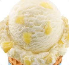 Best ice cream I've had in a long time, pineapple coconut from Baskin Robbins