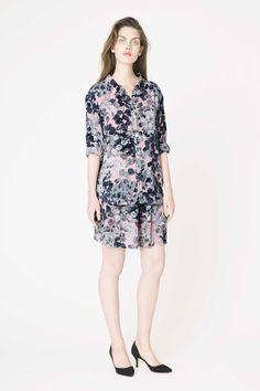 Tilde crepe shirt & skirt from Ganni pre-spring collection