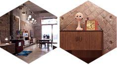 El recibidor  Mobiliario vintage: cómodas, estanterias, iluminación, sillas...  Barcelona