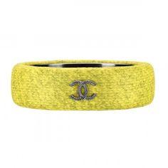 Chanel tweed Chanel bracelet silver metallic yellow