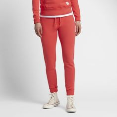 Converse Essentials Sportswear Women's Sweatpants Size Medium (Red)