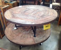 Wood and Metal Coffee Table. #SoutheasternSalvage #HomeEmporium #homedecor