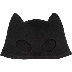 SILVER SPOON ATTIRE Cashmere Mask Beanie Hat - Black (470 AUD) ❤ liked on Polyvore featuring accessories, hats, beanie, mask, black, beanie hats, black beanie, cat ear hat, cashmere beanie ve cashmere hat