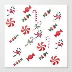 Christmas Candy Canvas Print