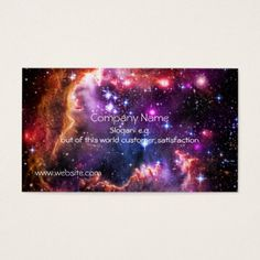 Starry Wingtip of Small Magellanic Cloud Business Card #zazzle HightonRidley