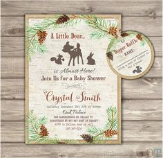 Woodland Critters Baby Shower Invitations Woodland critters