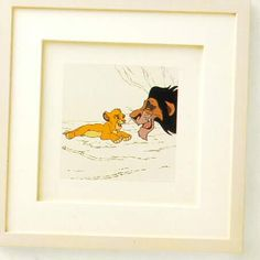 Walt Disney's, ''The Lion King'' Limited Edition Framed Etching starring Scar and Simba