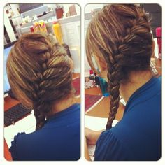 French braid ✨#hairstyle #loveit #highlights