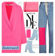 """distressed"" by jade-714 ❤ liked on Polyvore featuring Off-White, McQ by Alexander McQueen, Kate Spade, Gianvito Rossi and distresseddenim"