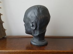 Circa 1823 life mask of William Blake - made for phrenology use - Bronze version in NPG