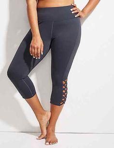 Wicking Capri Legging with Lace-Up Detail | Lane Bryant